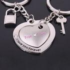 1 Pair Love Heart Keyring Couple Keychain Key Ring Key Chain Keyfob Lover Gift