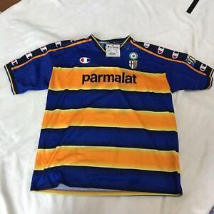 2002-2003 Parma AC Jersey Shirt Maglia Home Champion parmalat Nakata #10 XL