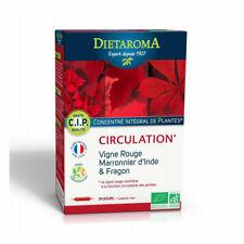 Dietaroma - CIP Circulation bio - Vigne rouge, marronnier d'Inde - 20 ampoules