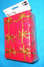 """Merry Minis (2""""x2""""x2"""") Red Boxes with Gold Bows Set of 6 Ornaments - NEW, Sealed"""