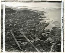 1948 Press Photo Aerial view of central business district in Bellingham, WA