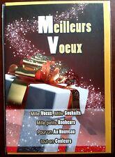 """H9) Carte """"Meilleurs Voeux"""" cadeau + enveloppe jaune - Neuf"""