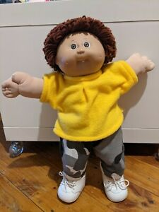 Xavier Roberts Cabbage Patch Kid 'Boy' Reddish Brown Hair Dimples One Tooth 1985