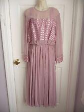 Miss Elliette Vnt Dress 14 NWT Dusty Rose Chiffon 70th Priced at $319 ALL TAGS