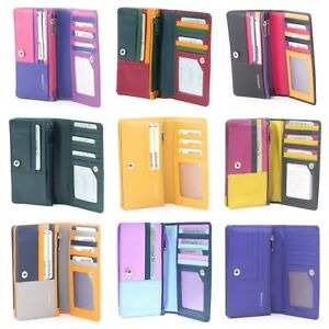 RFID Protected  Leather Bi Fold Wallet Purse by Golunski Various colours