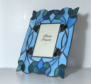 Stained Glass Effect Art Deco Style Freestanding Photo Picture Frame