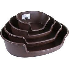 Plastic Pet Bed Heavy Duty Waterproof Cat Dog Basket Large Comfortable 4 Sizes
