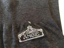 Womens Leggings Junior Black Grey Space Dyed Medium Large by Angie