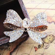 1 X Grande Aleación de oro del Rhinestone Diamante Arco Hazlo tú mismo teléfono/Zapato Adorno