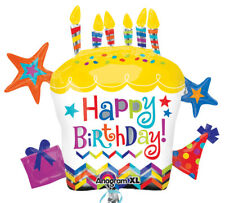 Folienballon Happy Birthday Cupcake Star  - Torte 71x66 cm Geburtstag Partydeko