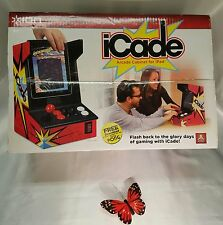 Ion iCade Arcade Game Cabinet For iPad w/full sized joy stick & buttons NIB