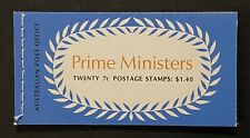 StampTLC Australia 514a-517a Prime Ministers 7c Pane Entire Booklet March 8 1972
