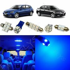 7x Blue LED lights interior package kit for 2004 - 2009 Mazda 3 MT2B