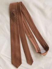 Original Vtg 50s 60s Wembley Skinny Neck Tie Copper Embroidered Accent 54.5�