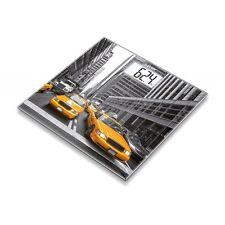 Beurer GS 203 New York Grau-Gelb Personenwaage digitale Anzeige Glasauflage