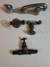 Steampunk lot 1 faucet & 3 Valves & Handles Brass Industrial Art Lamp Plumbing