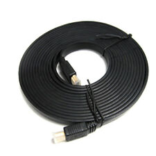 Axxis HDMI Flat Cable. From 6 to 15 feet. Plastic Cover. Gold Plate