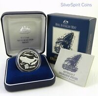 1996 ENDANGERED SPECIES SOUTHERN WHALE PIEDFORT SILVER Proof Coin
