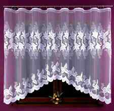 Lovely New White Ready-Made Jacquard Net Curtain 325X160 Home Window decoration