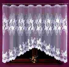 ADORABLE NOUVEAU BLANC prêt à porter jacquard Rideau Filet 325x160 fenêtre