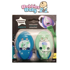 Tommee Tippee Explora Soother Holder Clip Blue/Green 0m+ BPA Free