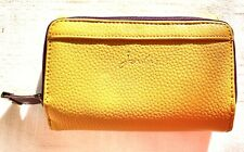 Joules Small Yellow Purse Wallet Zip Clip