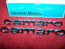 1967 CHEVROLET CAMARO FRONT FENDER SCRIPTS EMBLEMS PAIR GM NOS 3907901