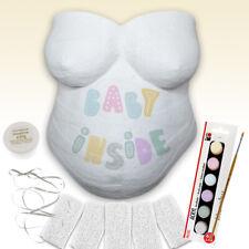 Babybauch Gipsabdruck Set mit Farbe, Pinsel und Aufhängeband, 10 Teile im Paket