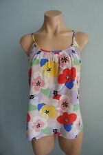 Tucker USA Spaghetti Straps Multi-coloured Floral Silk Cami Top sz S