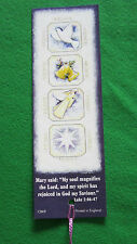 12 identical Rejoice Christmas Bookmarks with Bible Text EB210