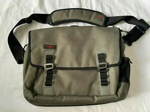 TIMBUK2 Command Laptop Messenger Bag Gray/Red Recycled Nylon MINT!