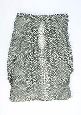 Fendi 100% Silk White Print Banded Skirt Size 40/6