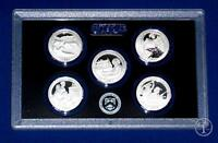2017 S 90% Silver Proof Quarter Set- Five Coins-No Box/COA