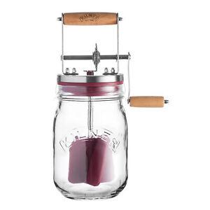 KILNER Butterfass Buttermaschine mit Handkurbel 1 Liter