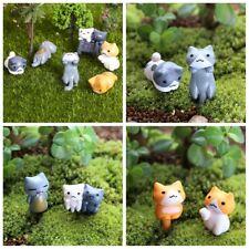 6pcs/lot Résine Mignon Chat chanceux Figurine Miniature Maison de poupées Décor