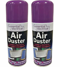 2 X Compressed Air Duster Spray Can Cleans Protects Laptops Keyboards 200ml