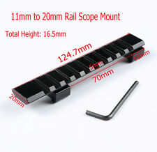 Tactical 11mm Dovetail Rail to 20MM Picatinny Weaver Rail Adapter Scope Mount
