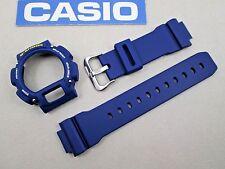 Genuine Casio G-Shock DW-9052 watch band bezel & studs navy blue DW-9050 DW-9051
