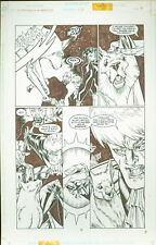 Superboy & the Ravers #17 Josh Hood Original Comic Art Page #9 DC Comics 1997
