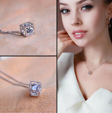 new love 1 pc silver fashion magic cube necklace pendant chain vogue cheap