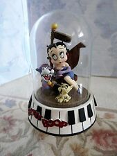 """BETTY BOOP FIGURINE """"BOURBON STREET"""" 1995 Glass Dome Hand Painted & Numbered"""