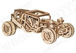 3D Puzzle Kinetic Model BUGGY Car STEM Engineering Fun Gift by Wooden City