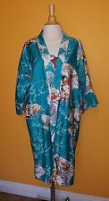 Vintage Peacock Kimono Robe Japanese Asian Theme Xs/S/M
