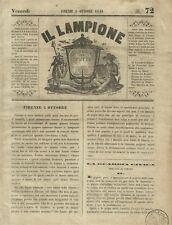 Il Lampione Giornale di Carlo Collodi Risorgimento n° 72 Tumulti a Firenze 1848