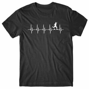 Cool T-shirt HEARTBEAT SOCCER PLAYER - funny Tee Shirt - novelty gift for man