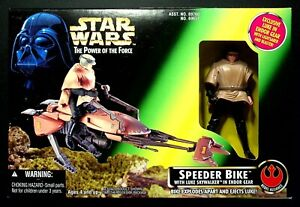 STAR WARS POWER OF THE FORCE SPEEDER BIKE AND LUKE SKYWALKER ENDOR GEAR UNOPENED