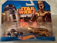 HotWheels Disney Star Wars Diecast 2-Pack R2D2 C3PO VW Drag Bus Case Fresh New