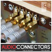 4 x Y Fork Spade - Vintage Speaker Amplifier screw terminal connector SP3