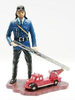 Schuco Piccolo Figur Feuerwehrmann mit Magirus Feuerwehr # 50123200