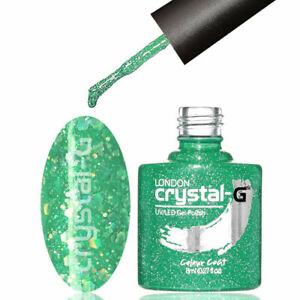 CRYSTAL-G - D11 JADE GREEN - DIAMOND GLITTER SHIMMER UV LED GEL NAIL POLISH